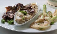 Fazuľová kaša s restovanými dubákmi a feniklom - recept | Varecha.sk Soup, Ethnic Recipes, Soups