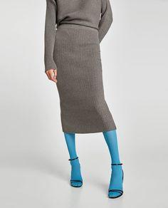 画像 2 の リブ編みスカート ザラから