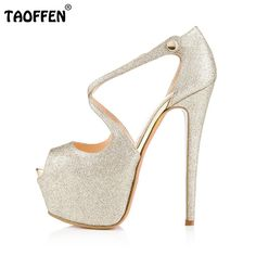 Price tracker and history of Women High Heel Sandals Peep Toe Platform  Stiletto Ankle Corss Strap Buckle Snap Dress Party Sandals Shoes Woman Size