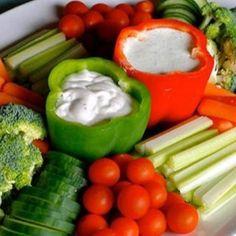 Inspirerende gerechten | Gezond presenteren van je dipsaus op een verjaardag Door snotje
