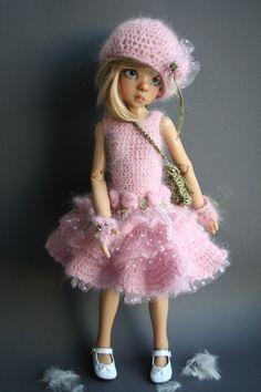 "OOAK Outfit ""Sweet Roses"" for Kaye Wiggs Dolls MSD BJD | eBay"