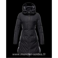 f3c7576be99 MONCLER Coat in polyester microfiber. Water-repellent zip puller enameled  in matching color.
