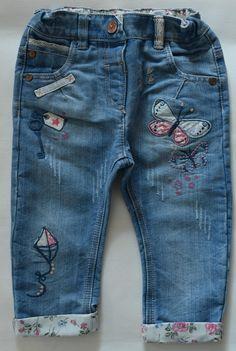 NEXT Jeans Gr. 92 98 104 Kite Drachen  Hose Denim blau w neu Jeanshose England