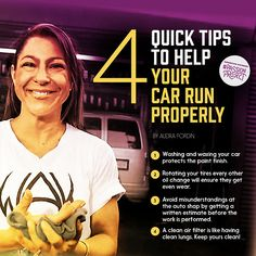 Audra shares her top tips for maintaining your car! Re-pin to share her #PassionProject words of wisdom. Car Facts, Car Care Tips, Car Essentials, Passion Project, Oil Change, Car Shop, Business Travel, Things To Know, Travel Inspiration