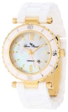 Lucien Piccard - LP-10222-WWGA Womens La Tournette White and Gold-Tone Watch W/