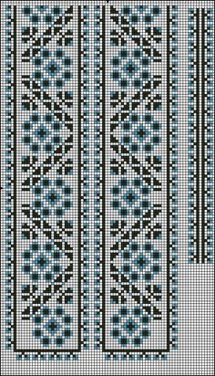 Gallery.ru / Фото #1 - Узоры (мужские) - WhiteAngel Cross Stitch Borders, Cross Stitch Charts, Cross Stitching, Cross Stitch Embroidery, Cross Stitch Patterns, Crochet Stitches Patterns, Beading Patterns, Embroidery Patterns, Crochet Sweater Design
