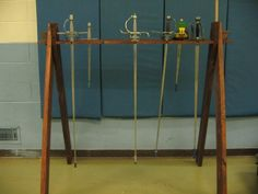 A rapier rack I built. Knight In Shining Armor, Wardrobe Rack, My House, Weapons, Medieval, Projects, Inspiration, Furniture, Ideas