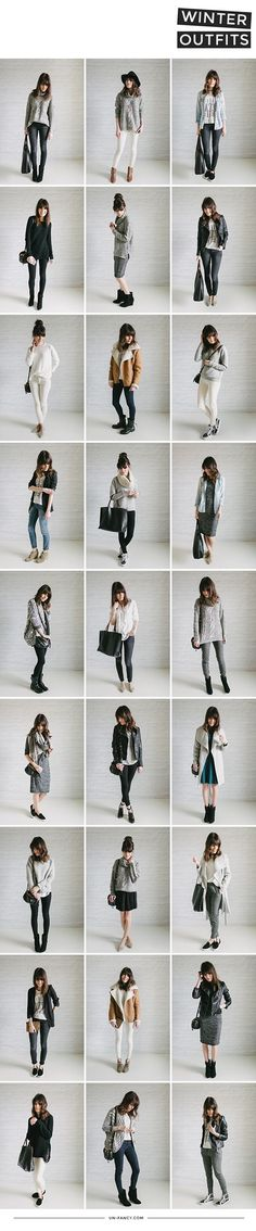 Unfancy capsule wardrobe 2015 winter wrap up: outfits