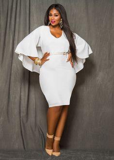 049b568b2b1 plus-size-white-cape-dress-with-scoop-v-