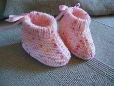 Chaussons bébé coloris chiné rose : Mode Bébé par logique