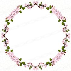 Flower Frame, Flower Art, Wreath Drawing, Embroidery Alphabet, Floral Logo, Quilling Patterns, Borders And Frames, Floral Garland, Floral Border