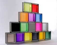 colores light through glass | There are so many fun glass block colors to choose from...