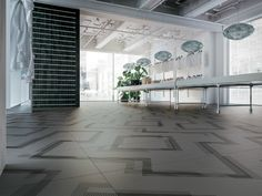 Endless geometry with Labyrinth collection by Ceramiche Refin