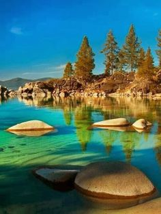 Lake Tahoe Sierra Nevada, USA... Kayaking this lake is #3 on my bucket list