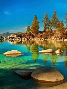 Lake Tahoe Sierra Nevada, USA... Kayaking this lake is #3 on my bucket list