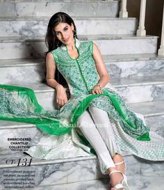 Gul Ahmed Chantilly de Chiffon festive collection CT-131