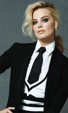 Margot Robbie, office-wear, celebrity, 480x800 wallpaper