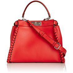 Fendi Peekaboo Satchel ($4,500) ❤ liked on Polyvore featuring bags, handbags, fendi, satchel bag, satchel handbags, red satchel handbags and fendi satchel