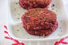 Kirschbiene kocht: Bohnen-Burger mit Roter Beete