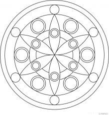 Free mandalas coloring > Flower Mandalas > Flower Mandala Design 1