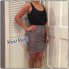 Host Pick  NWT C. Luce party dress  Wardrobe Goals HP 1.25.16  NWT C. Luce party dress. Top is black with silver dots and keyhole back opening and bottom is silver sequins. Gorgeous dress! C. Luce Dresses