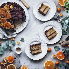 New blogpost! This delicious citrus ginger cake with honey chocolatehellip
