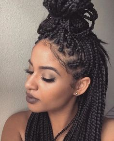 65 Badass Box Braids Hairstyles That You Can Wear Year-Round - Hairstyles Trends Natural Afro Hairstyles, Dope Hairstyles, Protective Hairstyles, Braided Hairstyles, Beautiful Hairstyles, Protective Styles, Small Box Braids Hairstyles, Curly Haircuts, Fashion Hairstyles