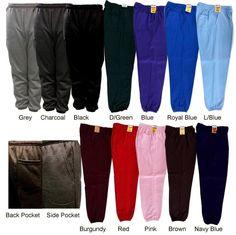 Mens Casual Sweatpants Fleece Gym Workout Sports Active Solid Cotton Blend Pants