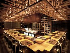 Designed by Bobby Cheng from Brewin Concepts, the Fat Cow restaurant in Singapore features a cool and contemporary interior.