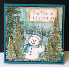 Snowman Forest by DJRants - Cards and Paper Crafts at Splitcoaststampers #HeartfeltCreations
