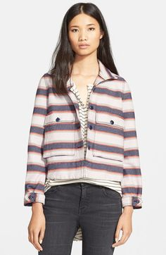 The Great 'The Swing Army' Stripe Jacket available at #Nordstrom