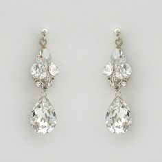things that sparkle | Things that Sparkle / Erin Cole Couture Wedding Earrings | Crystal ...