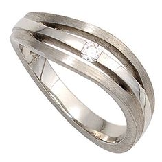 Dreambase Damen-Ring teilmattiert Platin 1 Diamant 0.07 c... https://www.amazon.de/dp/B00N5BW6OE/?m=A37R2BYHN7XPNV