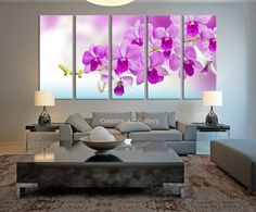 Orchid Flower Wall Art Canvas Print - Pink Orchid Flower Art Canvas Print - Extra Large Orchid Canvas Print