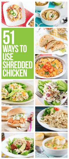 Have chicken-loving little ones? Serve these healthier meals! Healthy Shredded Chicken Recipes, Slow Cooker Shredded Chicken, Cooked Chicken Recipes, How To Cook Chicken, Cooking Recipes, Rotisserie Chicken Meals, Crockpot Recipes, Healthy Snacks, Healthy Eating