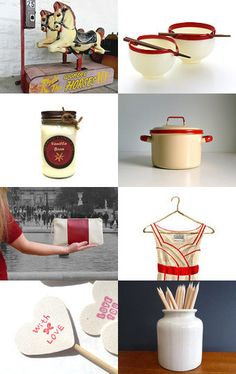 Ooak Cream And Red by Elinor Levin on Etsy--Pinned with TreasuryPin.com