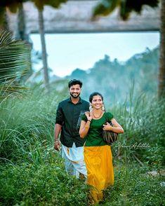Kerala Wedding Photography, Wedding Couple Poses Photography, Romantic Photography, Couple Photoshoot Poses, Girl Photography Poses, Wedding Photoshoot, Indian Photography, Couple Shoot, Indian Wedding Couple