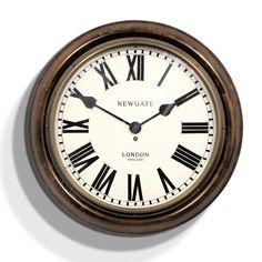 King's Cross Station Clock - Dark Wood - 50cm dia from Newgate Clocks