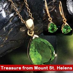 Helenite Necklace & Earring Set
