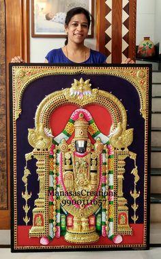 Tanjore Painting, Krishna Painting, Princess Coloring Sheets, Indian Inspired Decor, Indian Wall Art, Pooja Room Door Design, Clay Wall Art, Lord Vishnu Wallpapers, Shiva Art