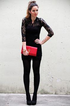 Un tubino in pizzo nero per una serata speciale - Irene's Closet - Fashion blogger outfit e streetstyle