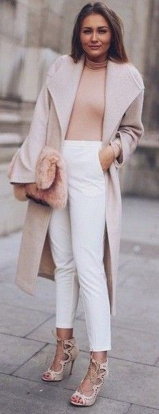 #Street #Fashion | Shades Of Nude and White | That Pommie Girl                                                                             Source