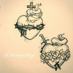 Old School Sacred Heart of Jesus and Immaculate Heart of Mary. @moleskinearts…