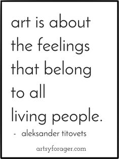 """""""Art is about the feelings that belong to all living people."""" - Aleksander Titovets #AETN #BeMore"""
