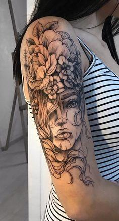 200 Fotos von weiblichen Tattoos auf dem Arm als Inspiration - Fotos und Tattoos. 200 photos of female tattoos on the arm as inspiration - photos and tattoos . - tattoo ideas - And Body Art Body Art Tattoos, New Tattoos, Sleeve Tattoos, Female Tattoos, Girl Leg Tattoos, Unique Tattoos, Tatoos, Flower Tattoo Designs, Flower Tattoos