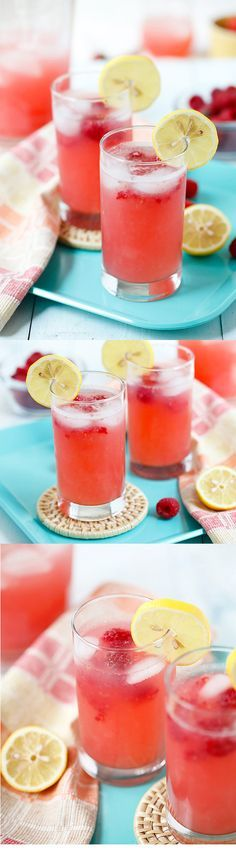 Raspberry Lemonade – sweet* refreshing and thirst-quenching lemonade with raspberry. So easy to make and takes only 10 minutes to make!   healthy dinner recipes