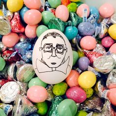 Alber Elbaz. See all of @thecartorialist Carly Kuhn's egg versions of big fashion people (North West and Karl Lagerfeld are in the mix!)