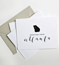 Atlanta Calligraphy Notecards – Set of 5 by Yes Ma'am Paper & Goods on Scoutmob Shoppe