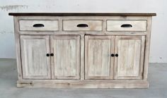 Sideboard Server Console Cabinet Reclaimed by VintageMillWerks Console Cabinet, Buffet Cabinet, Kitchen Sideboard, Furniture Plans, Furniture Making, Furniture Design, Tabletop, Wood Buffet, Muebles Living
