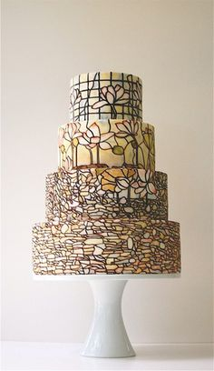 inspiration for the stained glass look. just using the simpler ideas in the top two tiers- not as busy!